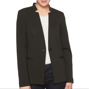 Banana Republic Black Ponte Inverted Collar Blazer